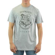 Harry Potter Hogwarts Cinza T-shirt Tamanhos Novo S-xl