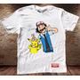 Camiseta Masculina Pokemon Calvin Haroldo Sátira Engraçada