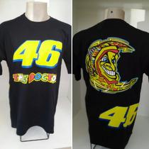 Camiseta Valentino Rossi 46 Diferenciada #preta Ou #branca
