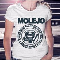 Camiseta Feminina Molejo Sátira Dos Ramones Azul