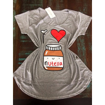 Blusinha Feminina T Shirt I Love Nutella