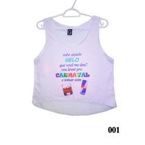 10 Blusas Cropped Para Carnaval - Atacado - Pronta Entrega!