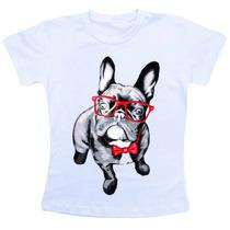 Camiseta Baby Look Feminina - Buldog Francês