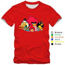 Camisa Camiseta Angry Birds Jogo Passarinho 100% Algodão