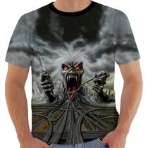 Camiseta Iron Maiden Hollywood Color - Eddie - Modelo 21
