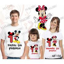 Lebrança De Aniversário Minnie Vermelha Camiseta 3 Un