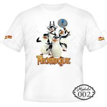 Camisa Camiseta Blusa Personalizada Madagascar Alex Pinguins