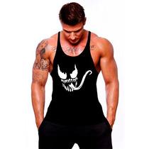 Camiseta Regata Cavada Venom Musculação Academia Tank Top