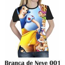Camiseta Blusa Branca De Neve Feminina 001