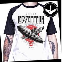 Camiseta Led Zeppelin Raglan Baby Look Rock Banda