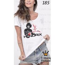 Camiseta T-shirt Hendrix Fashion Feminino Blusa Baby Look