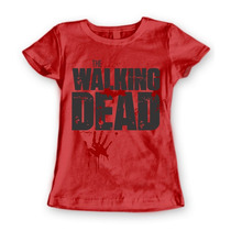 Blusa Baby Look Feminina Série The Walking Dead