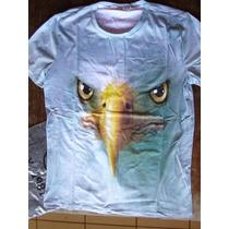 Camiseta 3d Realista Estampa Animal