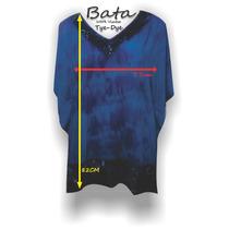 Bata Kaftan Tye Dye Tamanho Grande Blusa Plus Size
