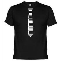 Camisetas Engraçadas Gravata Teclas