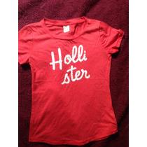 Camiseta Feminida Hollister - Tamanho Pp