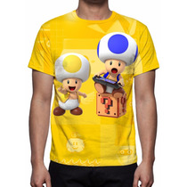 Camisa, Camiseta Game Nintendo Super Mario Maker 2015 - Toad