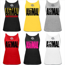 Camiseta Feminina Regata Top Academia Musculação Animal Fit