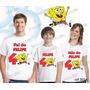 Camiseta Bob Esponja Aniversário Personalizada Kit Com 3