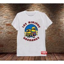 Camiseta Masculina Minions Cartoon Engraçada Desenho Cinema