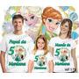 Lembrança De Aniversario Frozen Elsa Fever Camiseta Com 3