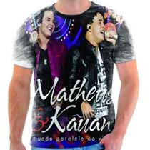 Camiseta Do Matheus E Kauan Musica Estampada Sertanejo 1