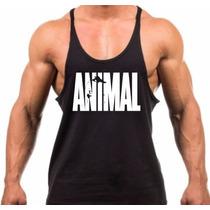 Camiseta Regata Cavada Animal Universal Academia Musculação