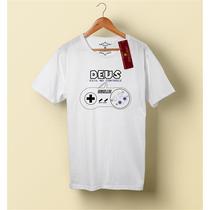 Camiseta Camisa Blusa Masculino Evangélica, Deus No Controle