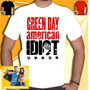 Camiseta Green Day Camisa Banda Rock Punk Metal Idiot Cd Dvd