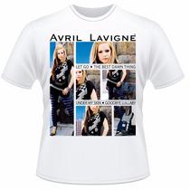 Camiseta Infantil Avril Lavigne Pop Punk Rock Camisa #2