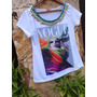 Tshirt Vogue Beuty Bordada Customizada Camiseta Tee Pedraria