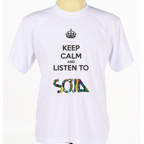 Camisa Camiseta Personalizada Banda Reggae Soja Manga Curta