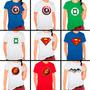 Camisetas Super Heróis Super Man Cap America Lanterna Aranha