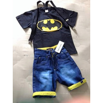 Conjunto Infantil Fantasia Batman Super Heroi! Promoção