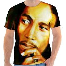 Camiseta Camisa Blusa Personalizada Bob Marley