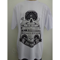 Camiseta Rap Power Gg Caveira Chicano Rádio Crazzy Store