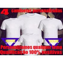 Kit Aniversário Infantil - 4 Camisetas Personalizadas!