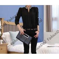 Camisa Blusa Chifon Importada Perola Social
