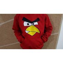Moletom Angry Birds Bordado
