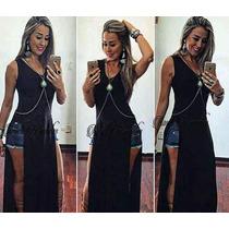 Blusa Frete Gratis Regata Vestido Nozinho Aberta S/renda Top