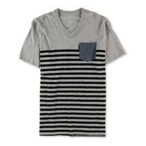 Ecko Unltd. Masculino Cor Bloco Listra Gráfico T-camisa