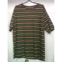 Camiseta Extra Grandes Listras Malha Algod. Fio30.1 Penteado