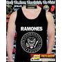 Camiseta Regata Ramones Camisa Rock Bandas Punk Metal Cd Dvd