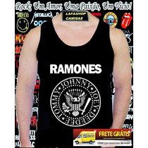 Camiseta Regata Ramones Camisa Rock Bandas Punk Metal Cd Dvd