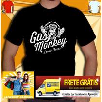 Camiseta Gas Monkey Garage Seriado Texas Dallas Discovery
