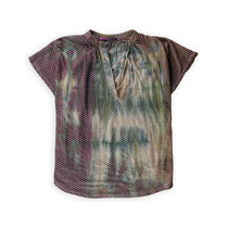 Casual Freedom Womens Faded Burnout Túnica Blusa