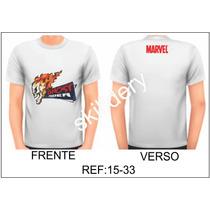 Camiseta Marvel Motoqueiro Fantasma Skilldery 15-33