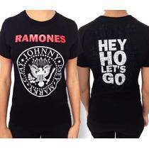 Camiseta Especial Feminina ¿ Ramones (hey Ho) ¿ M