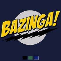Camiseta Big Bang Theory: Bazinga Sheldon Flash 100% Algodão
