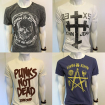 Camiseta John John Denim T-shirt Masculina Ellus Caveira